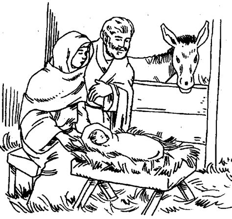 coloring pages of the nativity story birth of jesus coloring pages for children free