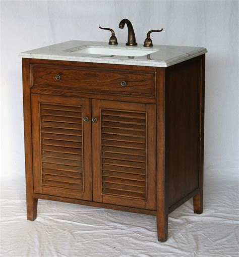 Coastal Bathroom Vanity 32 Inch Bathroom Vanity Coastal Cottage Style Walnut Color 32 Quot Wx21 Quot Dx35 Quot H S332832s