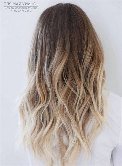 medium brown with blonde ombre medium length ombre balayage hair color ideas with blonde