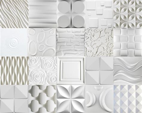Modern Design Embossed Interior Pu 3d Panel For Wall
