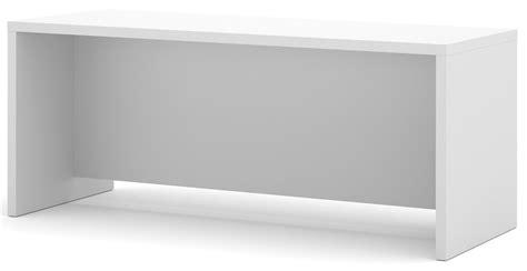 executive desk white pro linea white executive desk from bestar 120400 1117