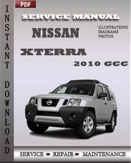 nissan xterra 2010 gcc service repair manual instant download