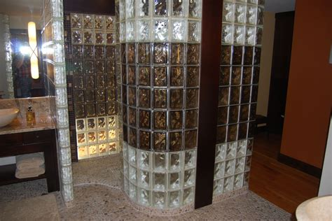 bathroom glass bricks how to design a curved glass block shower or partition wall