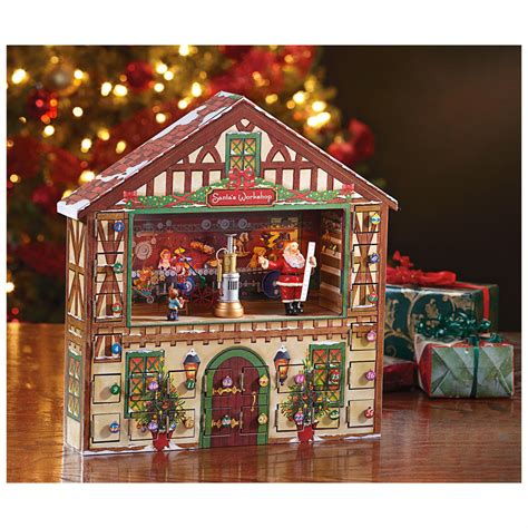 christmas house music mr christmas 174 animated advent house calendar music box 420797 seasonal gifts at