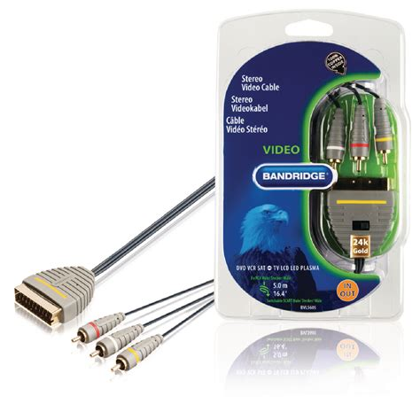 Foss Rca Blue Series 5 Meter bvl5605 bandridge scart cable scart 3x rca 5 00 m blue electronic discount be