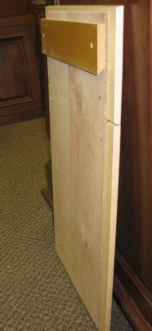 Angled Cabinet Doors - sle cabinet door and drawer front mounted to plywood
