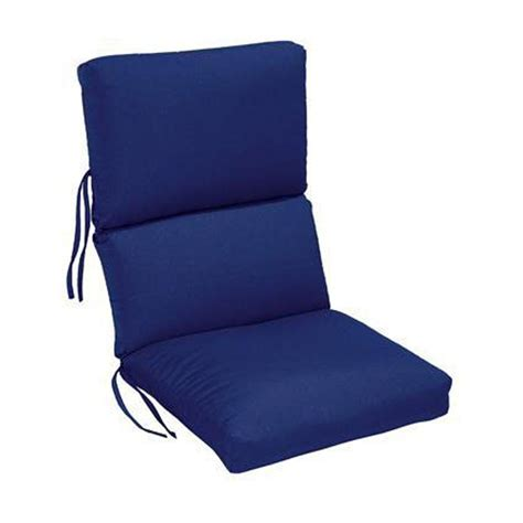 Dining Chair Seat Cushion Sunbrella Blue Outdoor Dining Chair Cushion 1573310310 The Home Depot