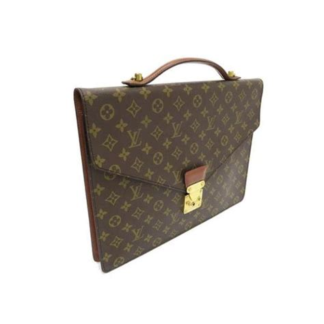 louis vuitton monogram leather laptop bag tradesy