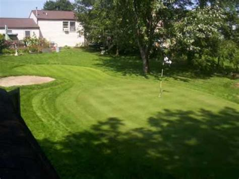 backyard putting greens youtube