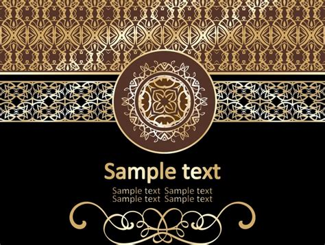 gold pattern ai gold pattern vector free vector in encapsulated postscript