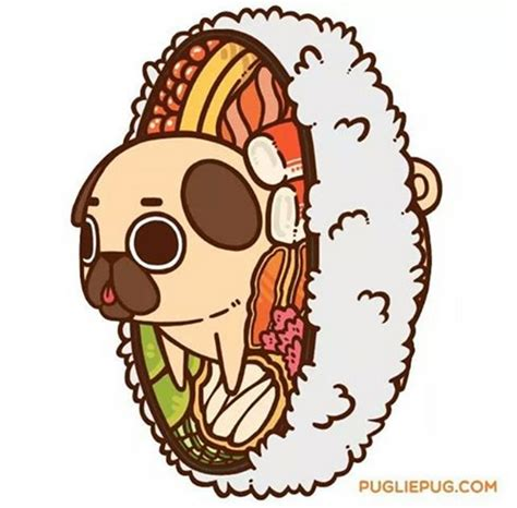 puglie pug food an adorable pug illustrated as foods for some reason foodiggity