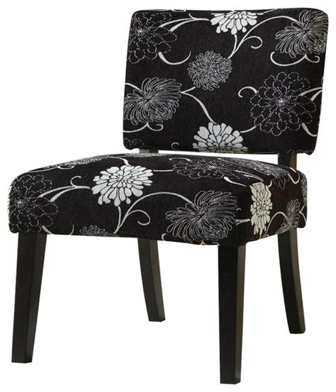 Black White Accent Chair Coaster Accent Chair In Floral Black And White