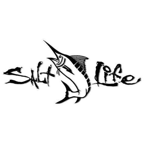 salt life tattoos salt sword fish window decal by adsforyou on etsy