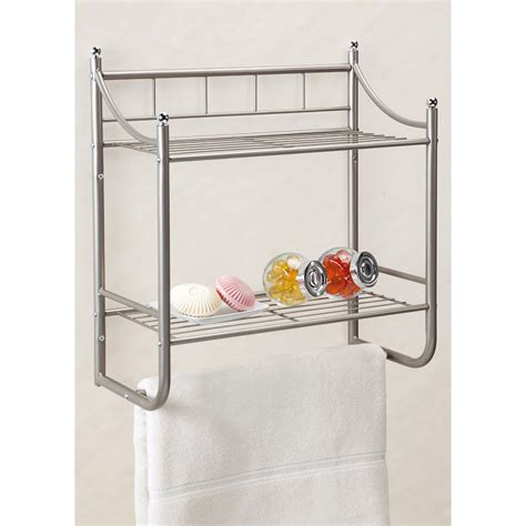 Bathroom Shelves Brushed Nickel Brushed Nickel Bathroom Shelves With Innovative Innovation Eyagci