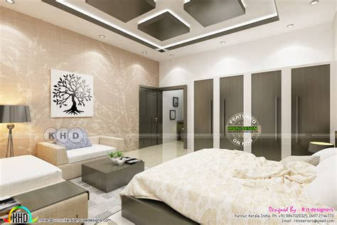 bedroom with dressing area bedroom and dressing area interior kerala home design