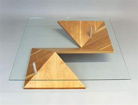 Table Origami - illusory paper folded furniture origami coffee table