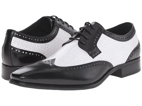 mens black and white wingtip oxford shoes 1940s style mens shoes