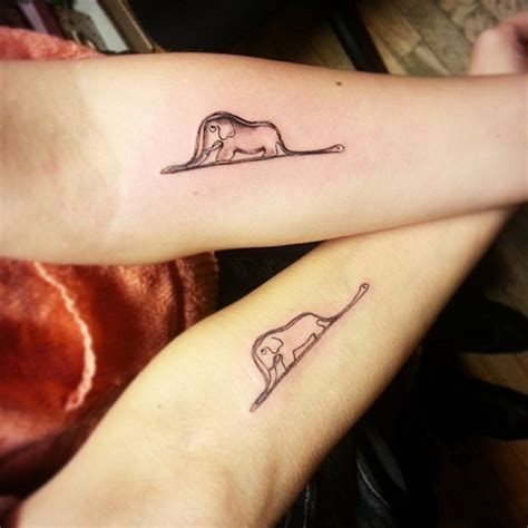 small couple tattoo 85 tiny elephant designs