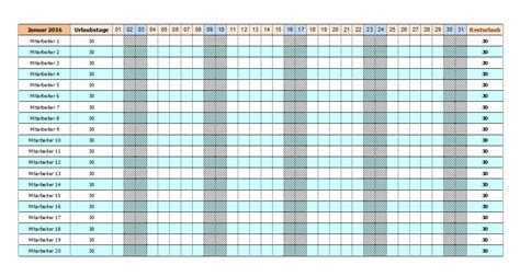 Kostenlose Vorlage Urlaubsplaner 2015 Urlaubsplaner Excel 2016 Kostenlos Calendar Template 2016