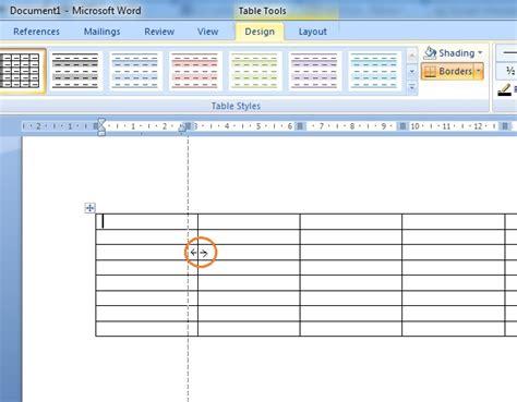 cara membuat garis di microsoft office word 2007 cara membuat tabel pada microsoft word 2007 belajar