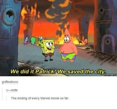 We Did It Meme - we did it patrick we saved the city memes co griff