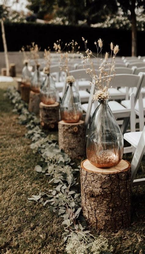 inspirational outdoor wedding aisle decoration ideas