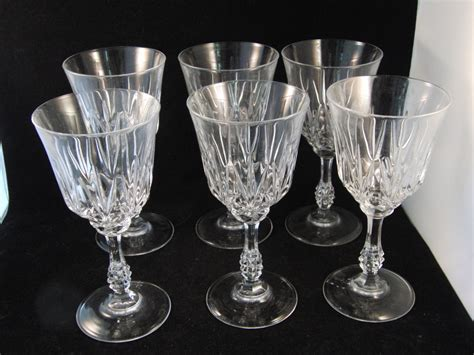 lead crystal barware genuine lead crystal wine glasses 6 glasses