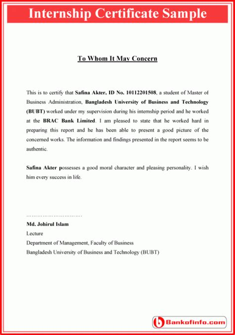 internship certificate format letter certificate format internship resume certificate
