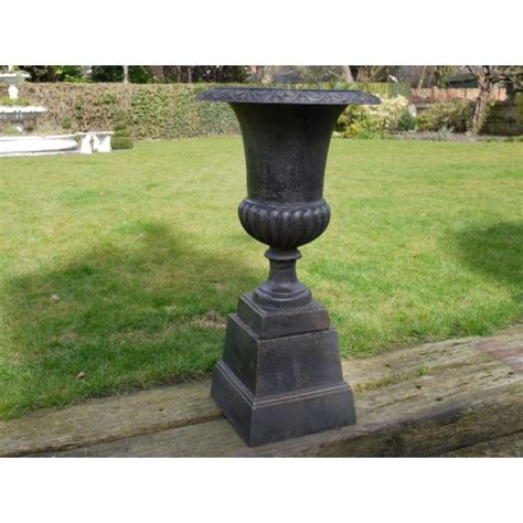 black urn planters garden black planter urn with base swanky interiors
