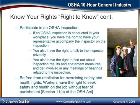 section 11 c of the osha act ppt introduction to osha part 1 powerpoint