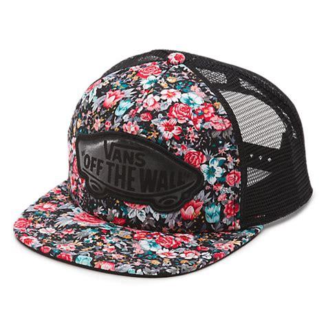 Floral Hat floral trucker hat shop womens hats at vans
