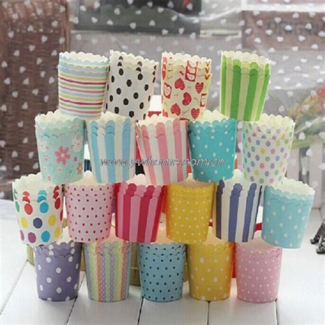 How To Make Paper Cups For Cupcakes - 50pcs bag disposable pretty paper cupcake baking cups