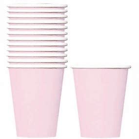 Lolla Cup Pink pale pink paper cups set of 24 modern lola