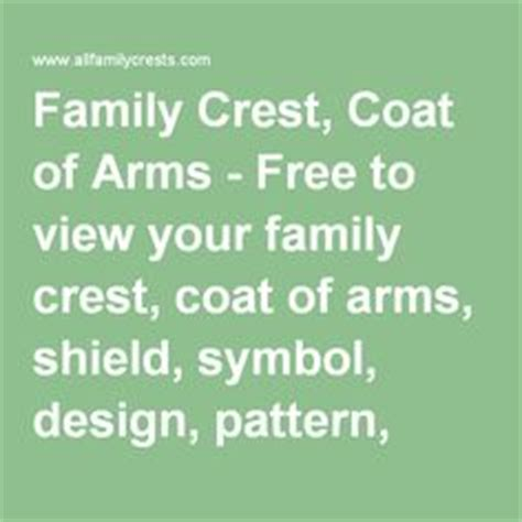 meaning of pattern in spanish family crest coat of arms and crests on pinterest
