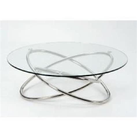 table basse ronde verre et bois table basse ronde verre et chrome le bois chez vous