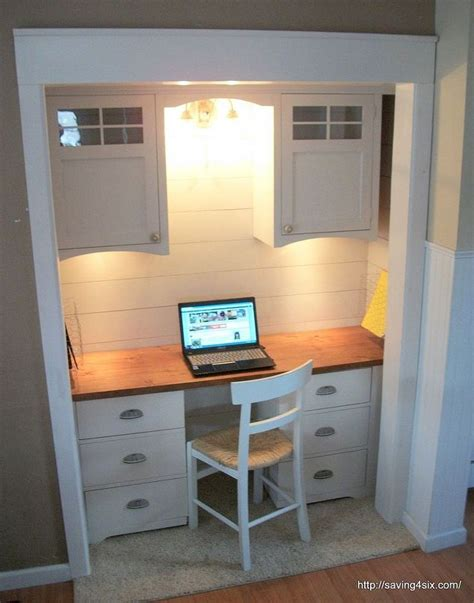 Desk Built Into Closet by 25 Best Ideas About Closet Turned Office On