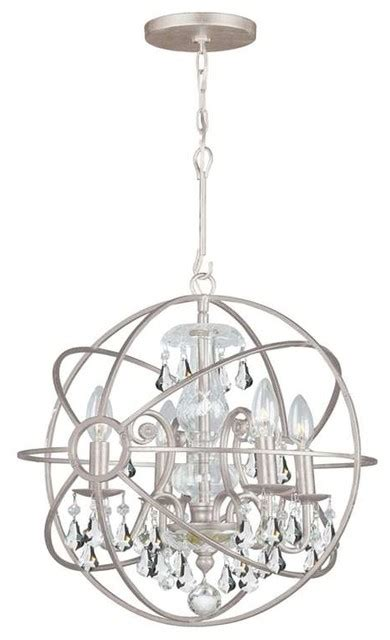 Wrought Iron Sphere Chandelier Crystorama Solaris Chandelier Wrought Iron Sphere Clear Crystals Transitional Chandeliers