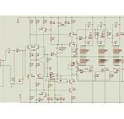 MOSFET 350W Power Amplifier Circuit Proteus Isis