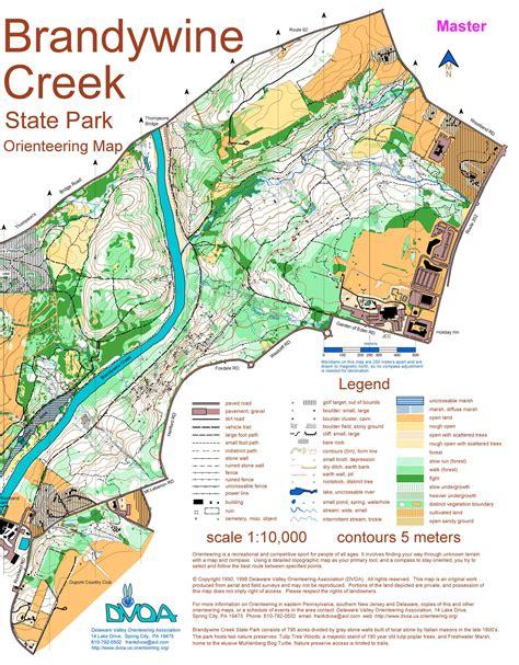 creek state park trail map brandywine creek state park map my