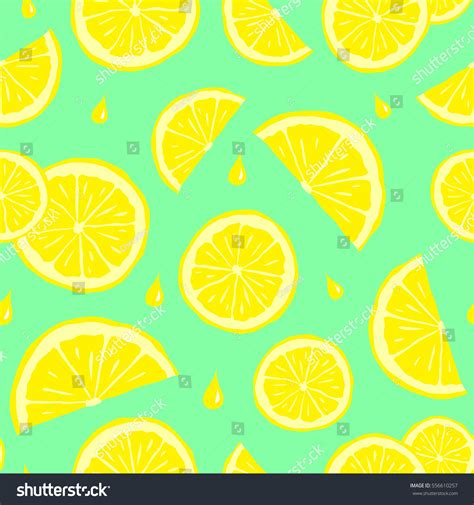 cute lemon pattern seamless pattern lemons cute seamless pattern stock vector