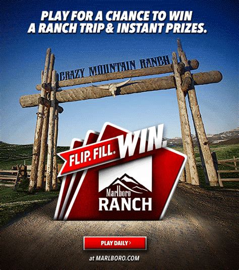 Marlboro Ranch Sweepstakes - the 2017 marlboro summer ranch flip fill win promotion mumblebee inc