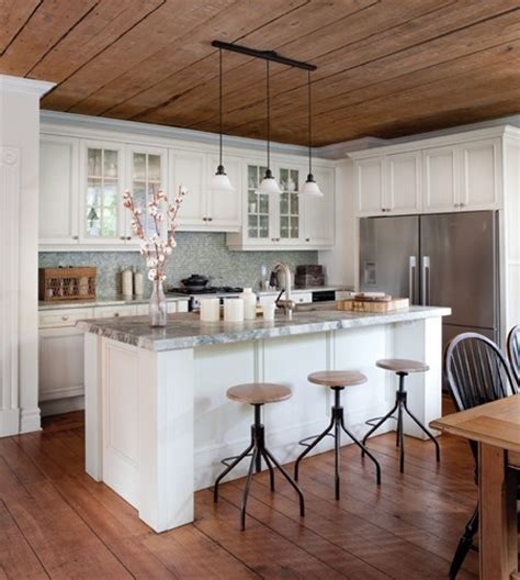 Kitchen Wood Ceiling by Rustic Wood Kitchen Free House Interior Design Ideas