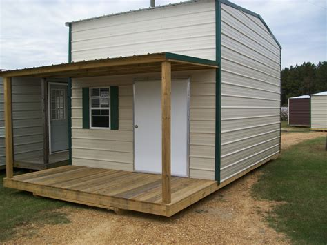 Sheds And Storage by Storage Shed With Loft And Front Porch