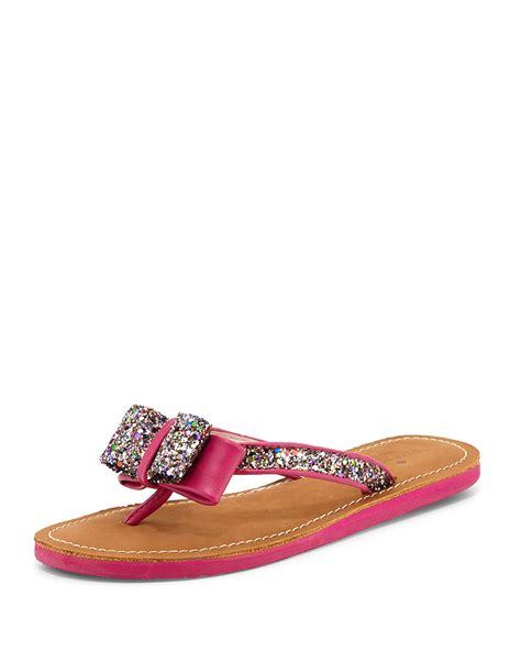 kate spade bow sandals kate spade icarda glitter bow sandal in multicolor