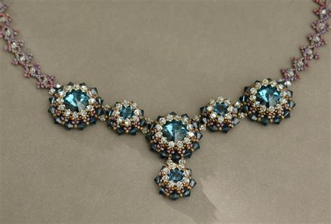 Handmade Beaded Jewelry Tutorials - sidonia s handmade jewelry blue roses necklace