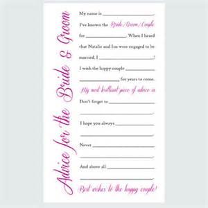 wedding advice cards items similar to wedding advice cards printable