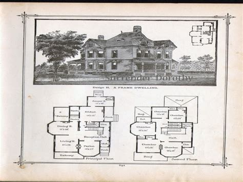 historic victorian floor plans old victorian house plans vintage victorian house plans