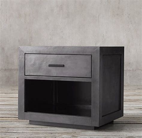 metal night stands bedroom la salle metal wrapped 30 quot open nightstand for the home
