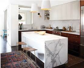 island kitchen counter waterfall kitchen island inspiration