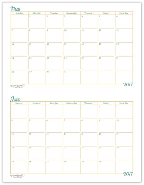 Calendar 2017 3 Months Per Page